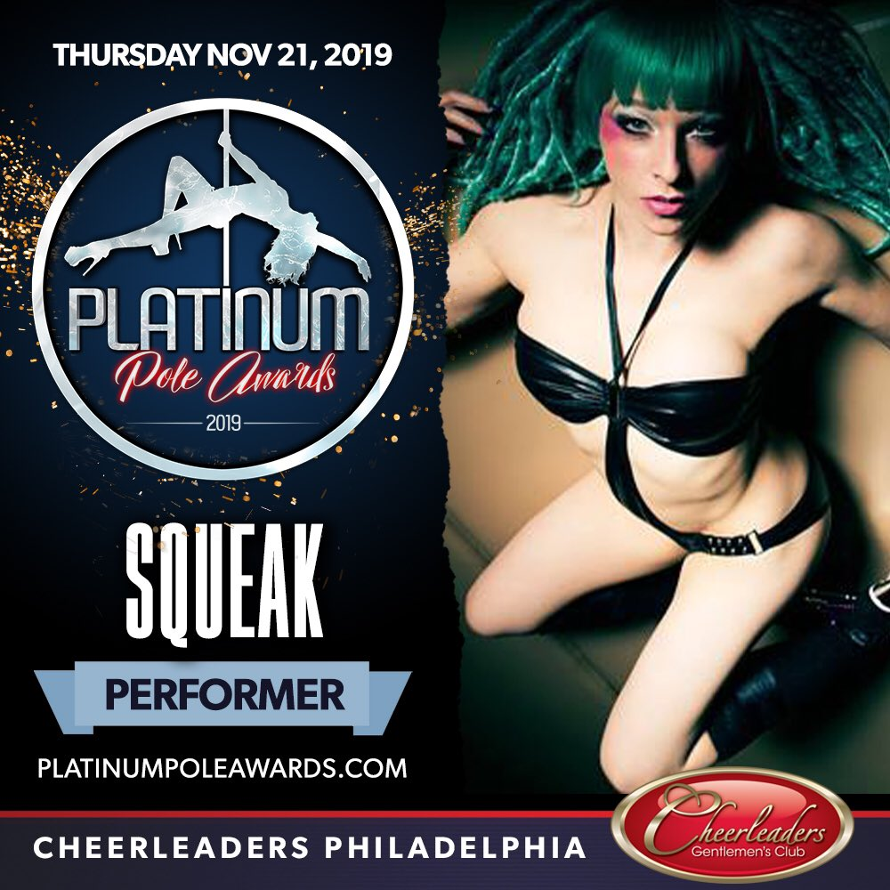 Meet Contestant #6... This one is a crowd favorite who is a Philly Native but currently resides in New Orleans and owns her own Pole Studio! Say hello the one and only SQUEAK! #platinumpoleawards #cheerleadersphilly #polecompetiton #polefitness #poleathlete . @Squeakmachine