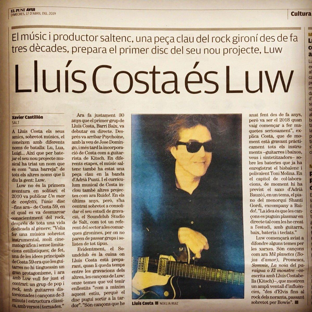 Let me introduce you to my coproducer... Lluís Costa @lluiscostamusic  A hores d'ara deu estar en la glòria gravant el seu disc. (((El que sentit és exquisit!)))