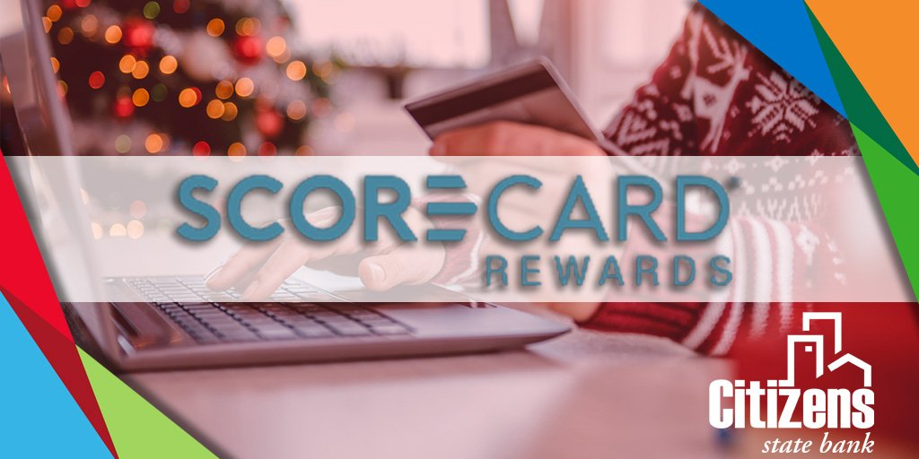 Looking for a way to make an extra splash this holiday season? Check out the Scorecard Rewards program with our Citizens State Bank Consumer Credit Cards! Each purchase dollar spent earns one reward point. Score! Bring the #CitizensExperience home for the holidays! #BankLocal https://t.co/Lx05bxRQCO