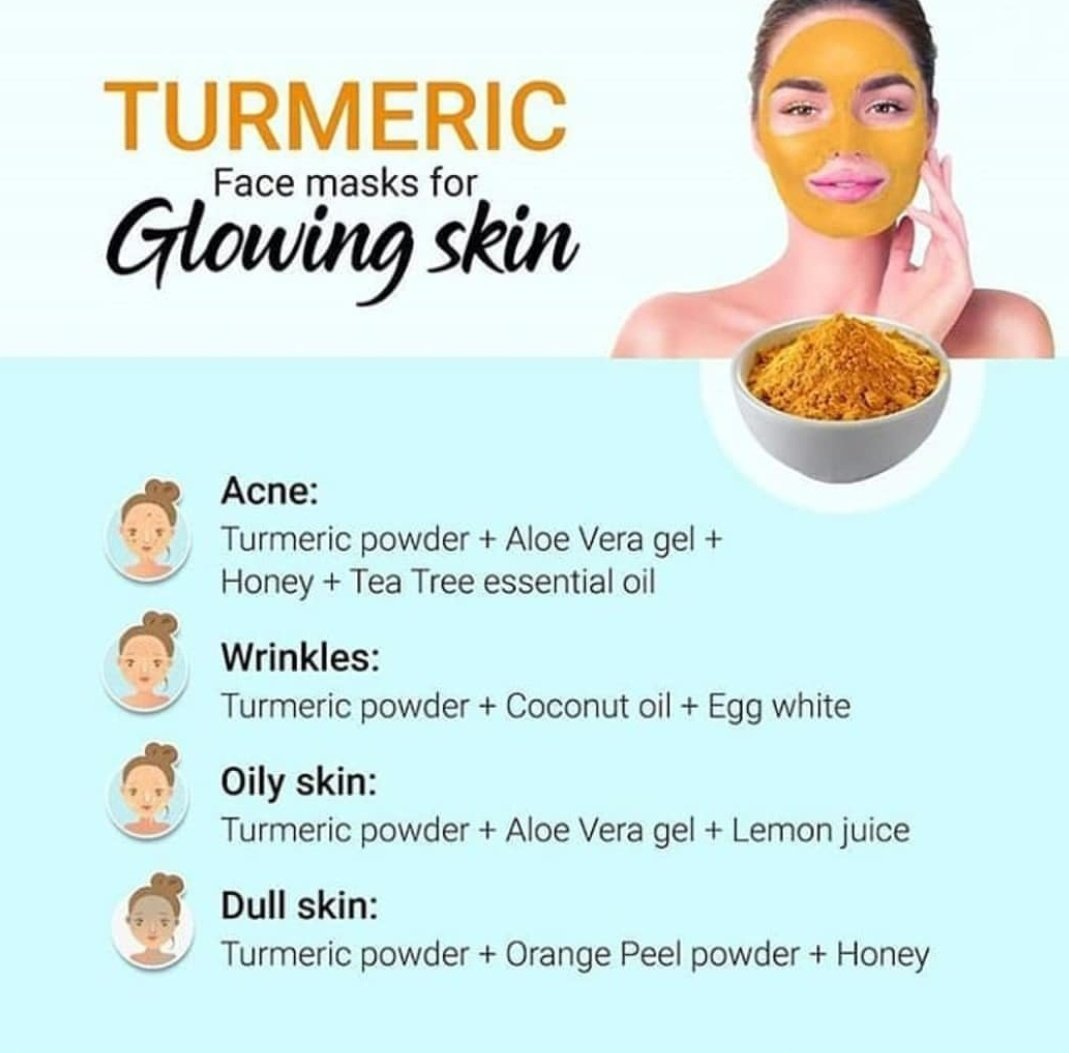 """Fab Beauty Tips on Twitter: """"Turmeric face mask for glowing skin"""