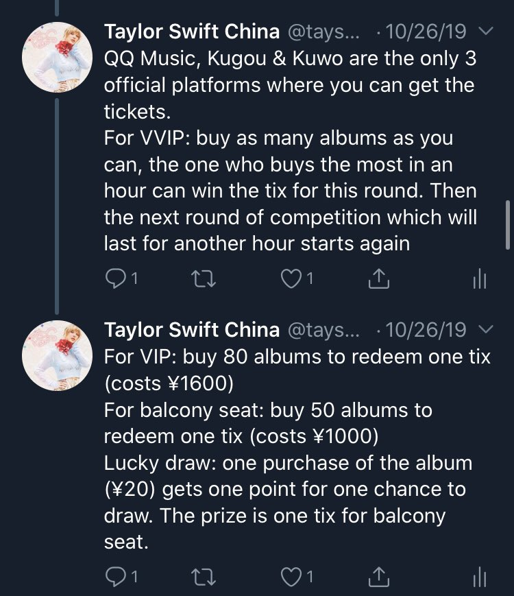 Taylor Swift China On Twitter Sold Out On Oct 24