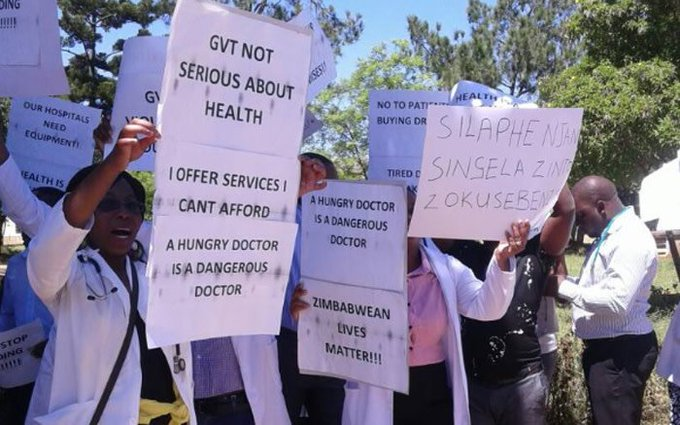 striking zim doctors