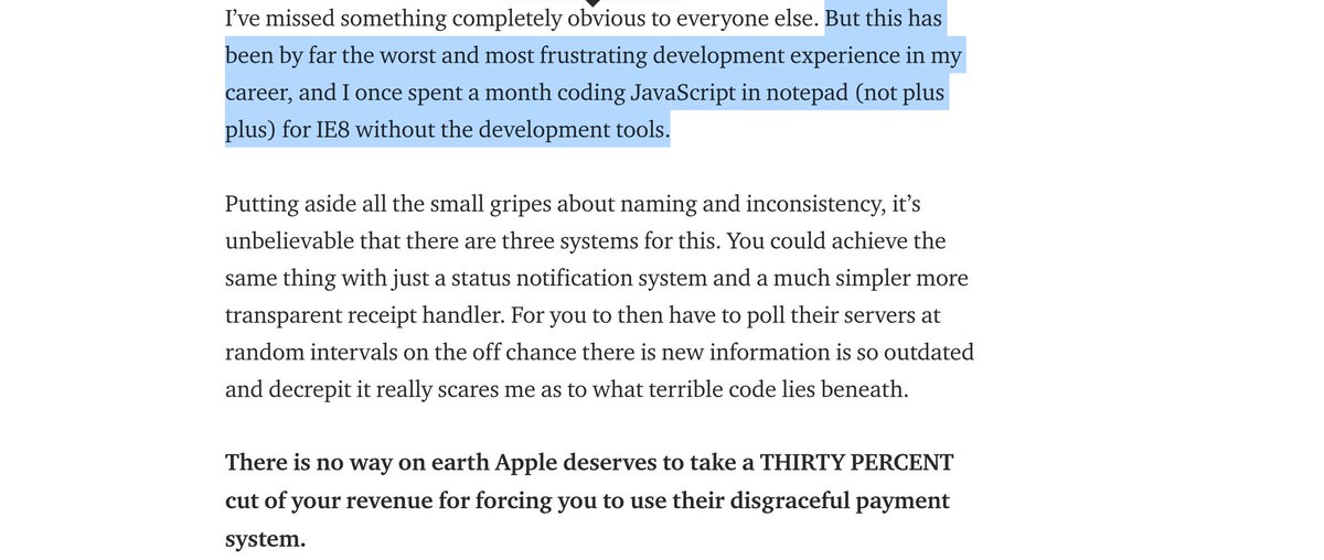 @GooglePlayDev Not that the receipt validation APIs provided by App Store were any better. https://t.co/HLZcvzQbqq https://t.co/zjaYit2O9U
