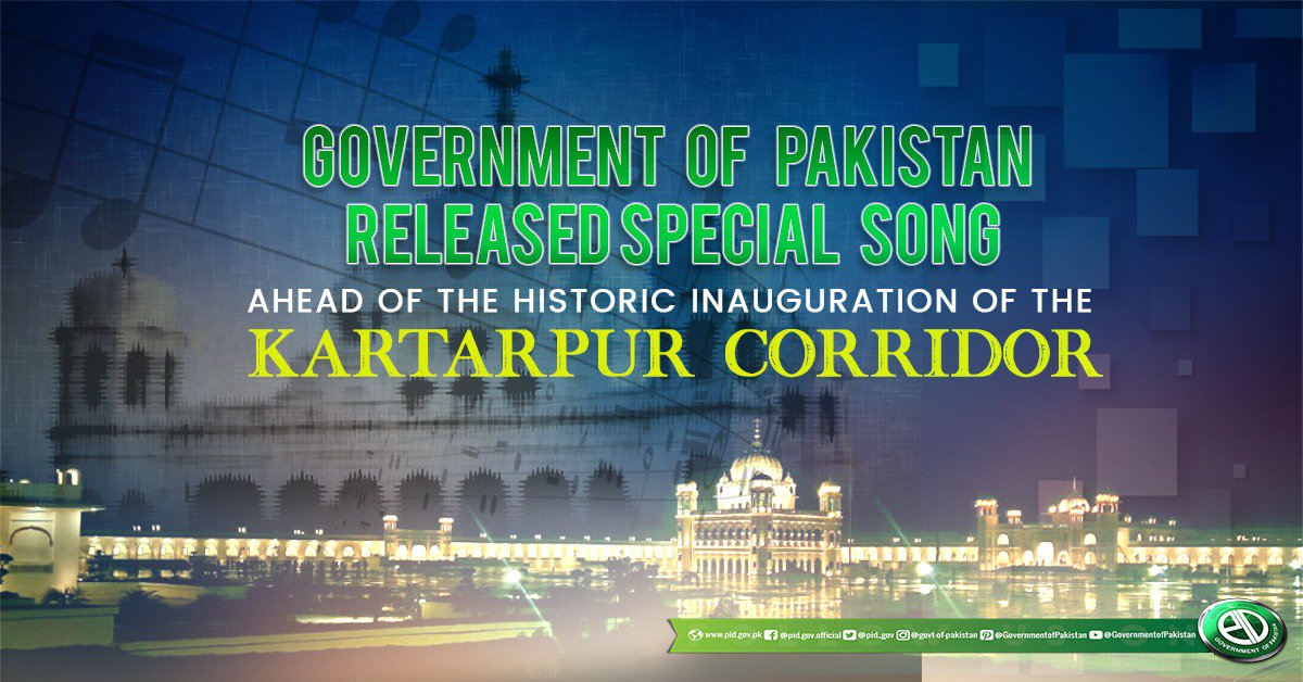 Government of Pakistan released special song ahead of the historic inauguration of Kartarpur Corridor. It highlights peace, love & harmony, synonymous to PM Imran Khans vision of protection, freedom & equal rights for all Pakistanis. #KartarpurSong