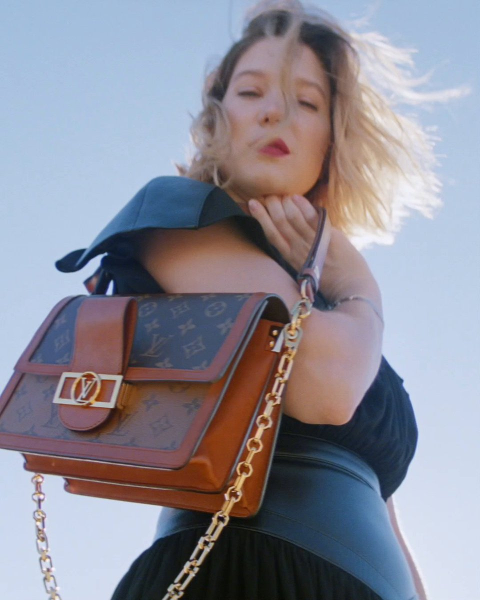 The chic Dauphine. #LeaSeydoux models the latest New Classic Bags in #LouisVuitton's leather goods campaign. See more at on.louisvuitton.com/60141z8Zm