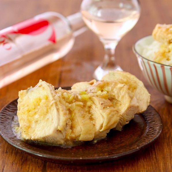 【葱だれチキン】レンジでこんなジューシーに美味しく作れます?