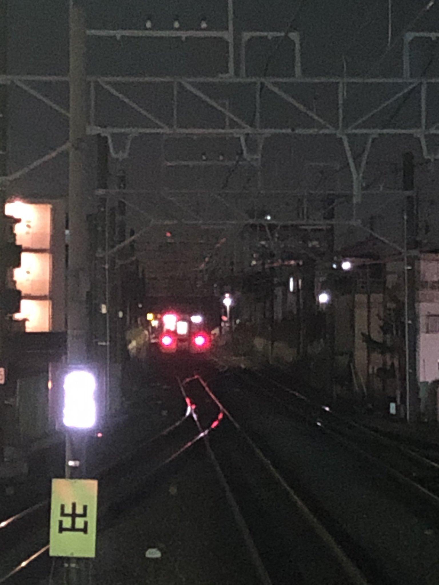 東武東上線の成増駅~下赤塚駅間で人身事故が起きた現場の画像