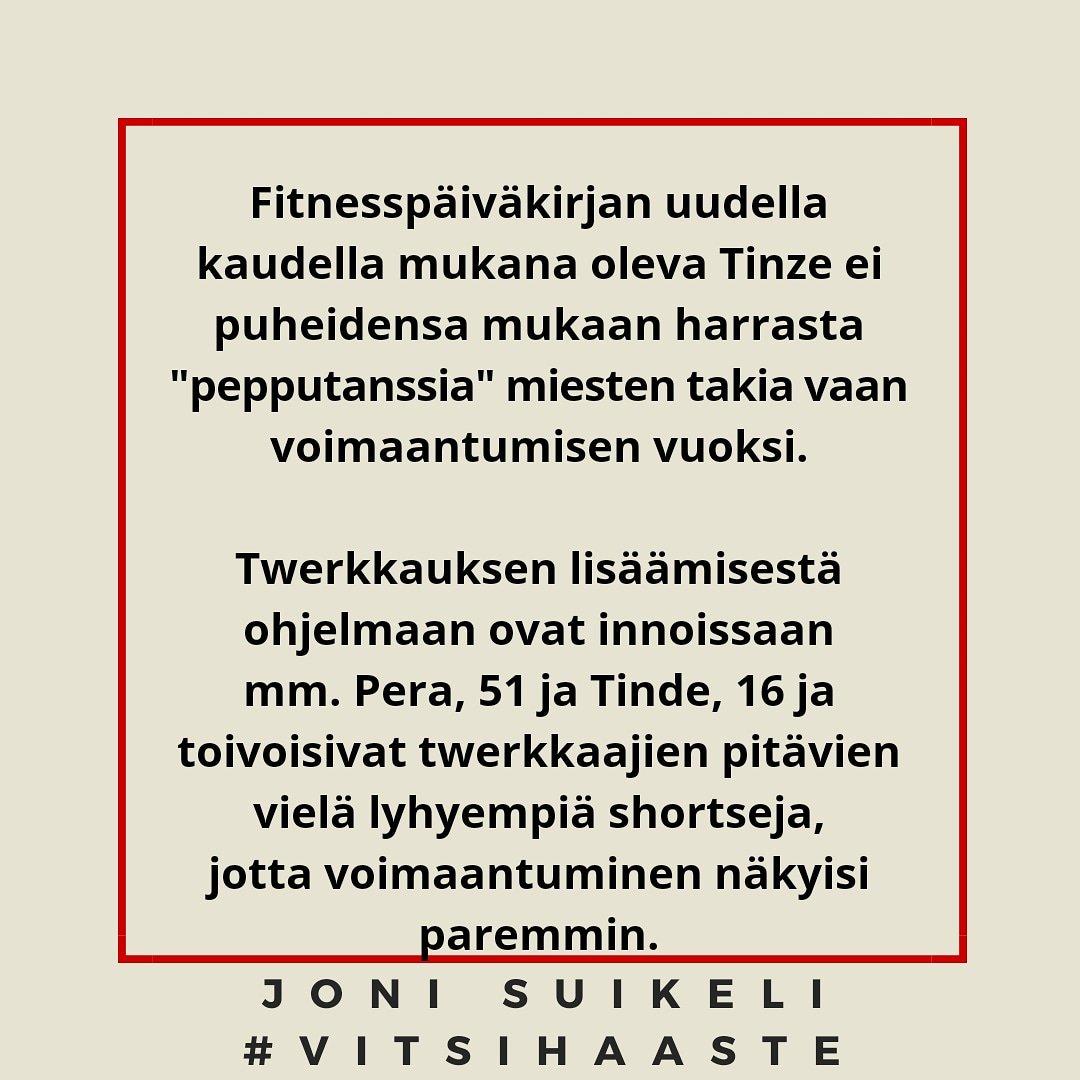#fitnesspäiväkirja #twerkkaus https://t.co/2XbSIlcwJb