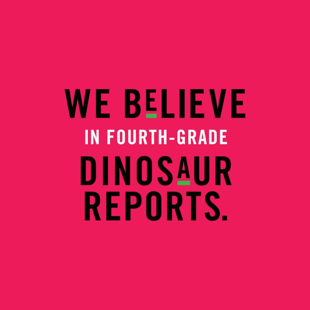Dinosaurs were made to be printed. #getreal