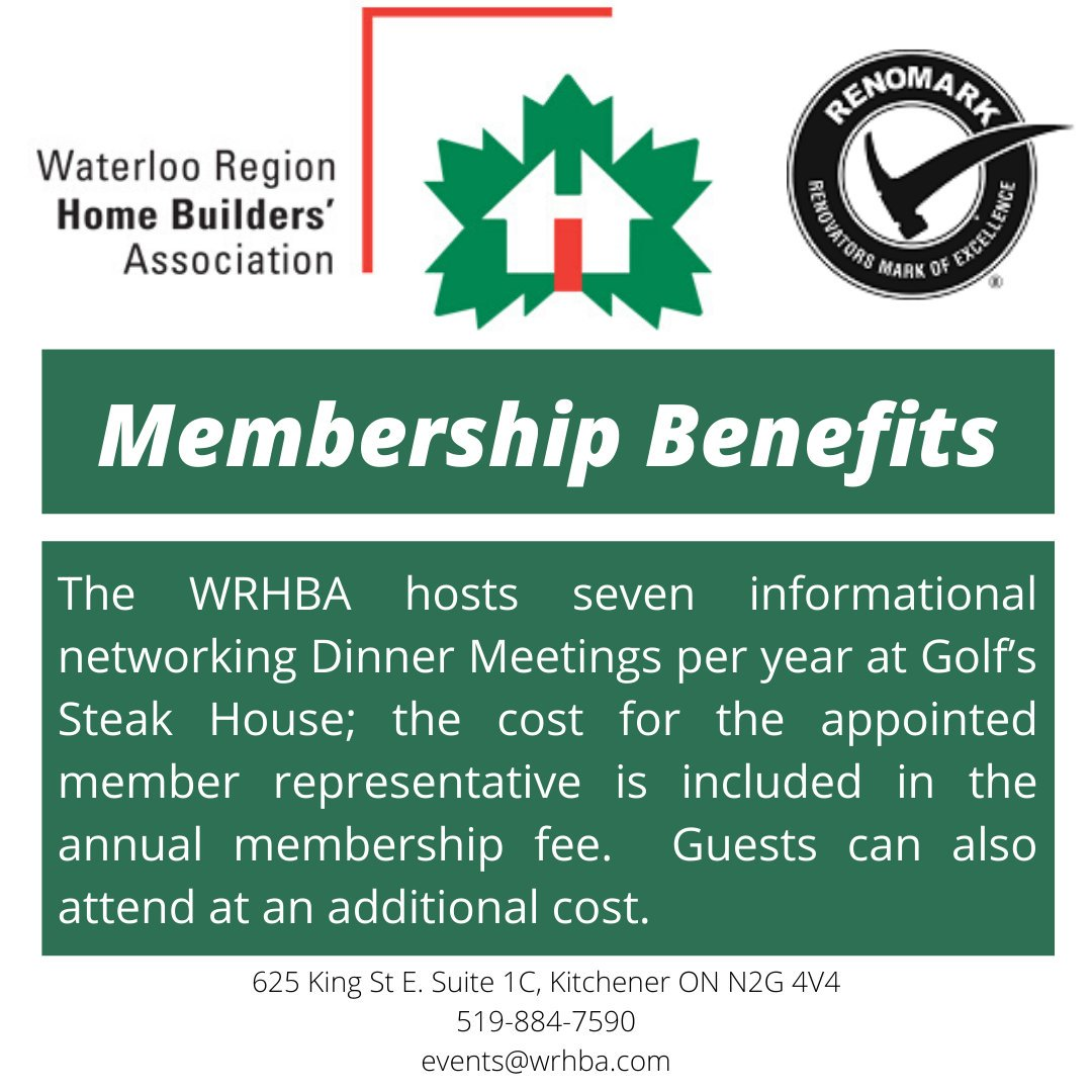 There are so many benefits to being a member with WRHBA, here is just one of them!  #wrhba #waterloo #waterlooregion #home #homebuilders  #association #notforprofit #homebeliever #waterlooontario #ontario #canada #kwlocal #membership #homebeliever #residentialpic.twitter.com/9tB4jPzX7u