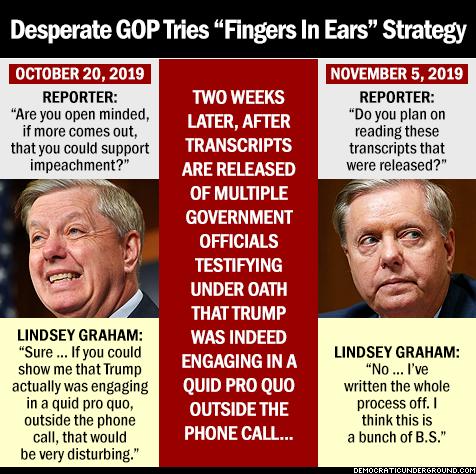 "Desperate GOP tries ""fingers in ears"" strategy"