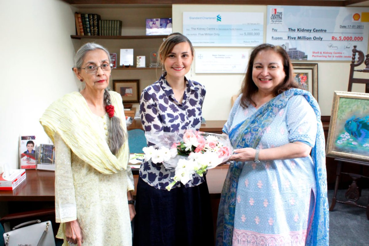 Consul of Italy Ms. Anna Ruffino visited Kidney Centre hospital. Kidney Centre is the first specialized hospitals founded in Karachi for treatment of Kidney diseases and transplant. @kidneycenter