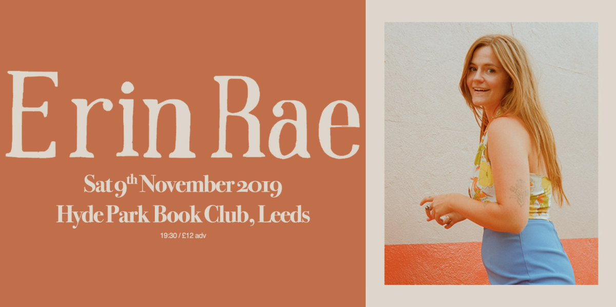 """""""In Nashville, where she lives, listeners flock to her shows to absorb her lucent energy and the insights she offers without fuss."""" - @nprmusic This Saturday we're hosting @ErinRaeMusic at @HPBCLeeds, now with added HerTiltedMoons!➡️http://bit.ly/ErinRae-Leeds"""