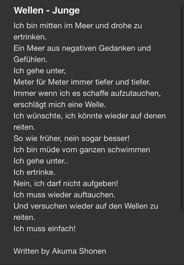 Yo, ich bin soo froh diesen Text fertig ist, da er schon so lange in meinen Kopf hatte aber gewartet habe bis ich zu 100% Bock habe ihn zu schreiben. Feed back wär nice! —————————— #poetry #poesie #deutsch #negativeenergy #negativegedanken #dämonen #demonspic.twitter.com/cufR3Hmg6E