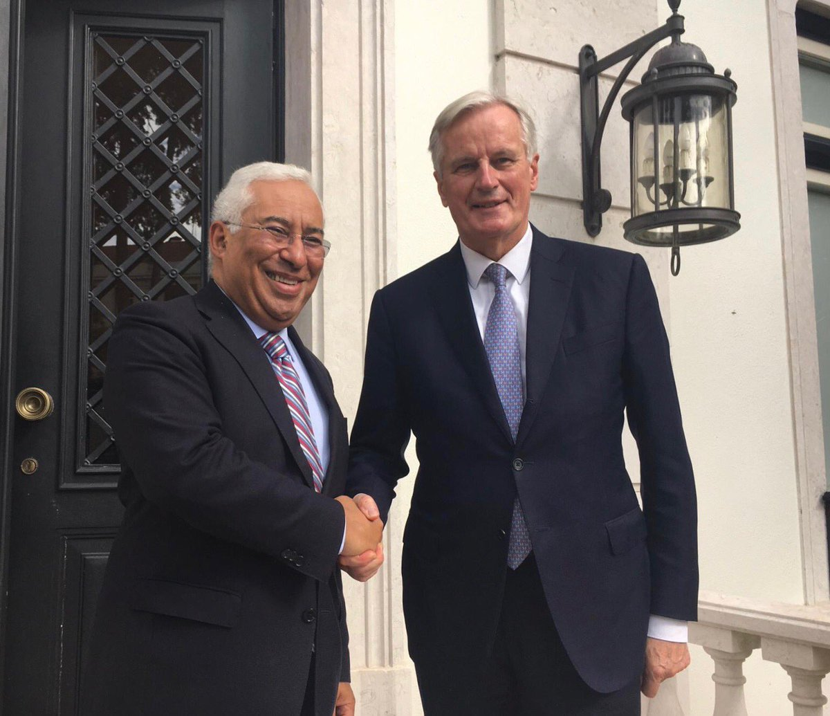 #EU27 consultations continue today in Lisbon: pleased to meet PM @antoniocostapm to take stock of the latest state of play and discuss the future EU-UK relationship, which will be based on a strong level playing field. #Brexit