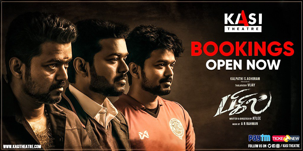 #BiGiL strikes big with Golden Foot, making it to third week. Bookings open now, grab your tickets soon !!   #BigilAdiAtKASI #Verithanam   Book Now ->  https:// bit.ly/2OeagDH    <br>http://pic.twitter.com/NbM1ngFJx4