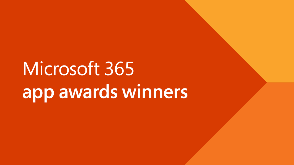 Take a look! The 2019 Microsoft 365 app award winners are here. Check out the best apps to cut your busy-work and customize your workflow. Find out more at #MSIgnite. http://msft.social/A0m7PK