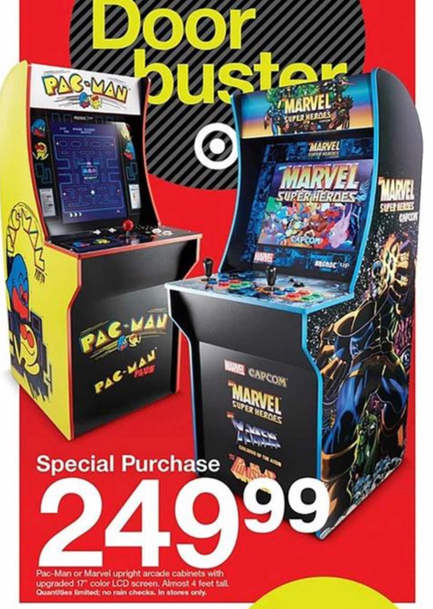 Cooltoy On Twitter Here Are The Target Black Friday Specials On Arcade 1up Cabinets This Year Arcade1up Retrogaming Blackfriday2019 Https T Co Zzj5almwra