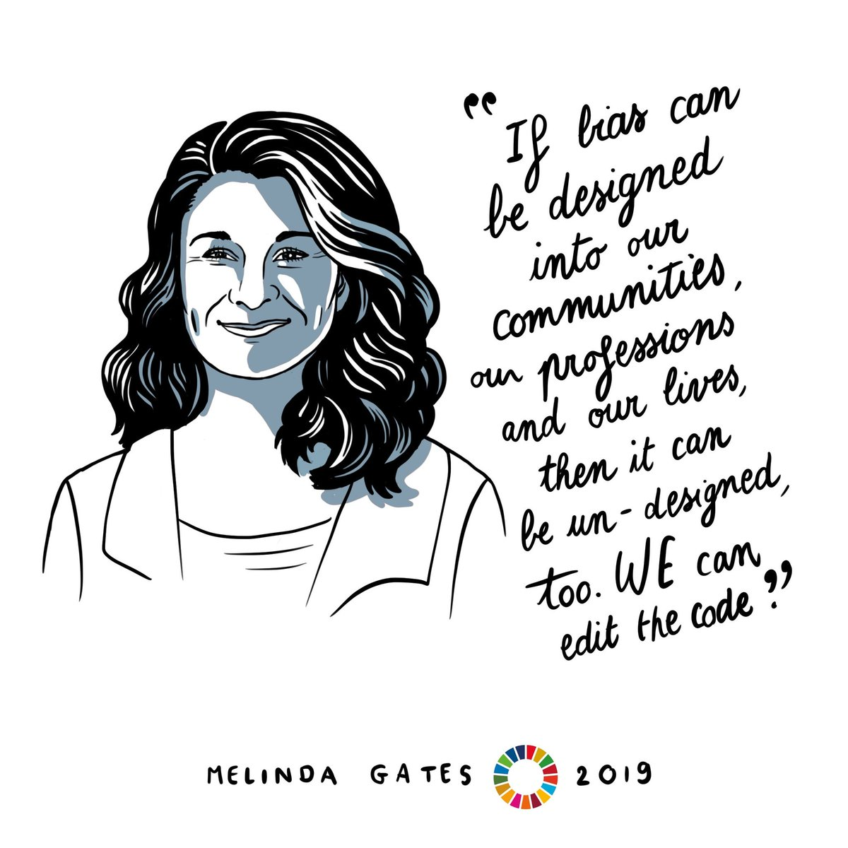 Some #WednesdayWisdom from @melindagates at this year's #Goalkeepers19 on how we CAN change biases 🙌