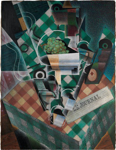 Still Life with Checked Tablecloth by Juan Gris  http://www. metmuseum.org/art/collection /search/646469  …  #juangris #themet<br>http://pic.twitter.com/jm111Yixyp
