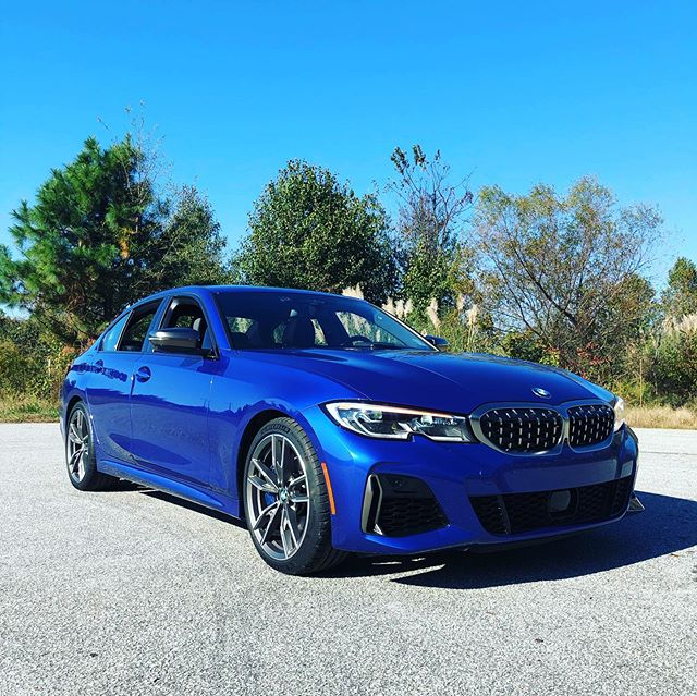 Day 1 of #BMWTestFest and were starting our filming day with the 2020 bmwusa #M340i. It has nearly 130 more HP over the 330i courtesy of a 3.0L turbocharged 6-cylinder. #BMW says the 382 HP sport sedan can rocket to 60 in as little as 4.1 seconds. Will this be enough to tie enth