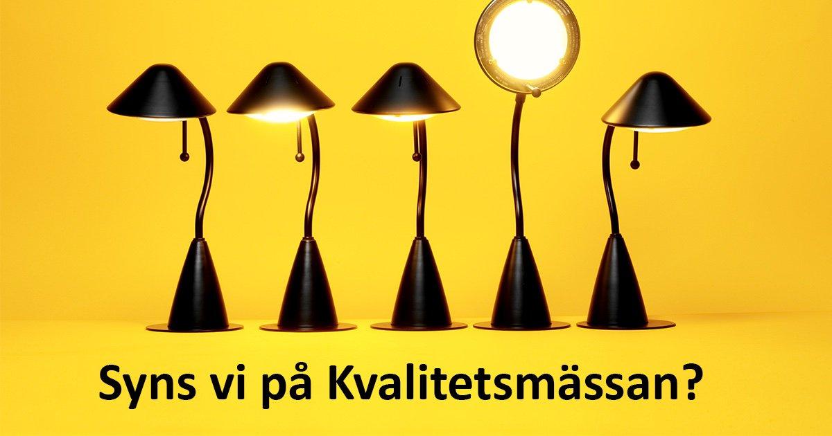 Nästa vecka finns vi på plats på Kvalitetsmässan i Göteborg! Ladda ner en fribiljett till mässan och kom till vår monter B06:06, eller besök våra seminarier. Du kan också höja pulsen under mässdagarna genom att delta i vår mässbingo... Varmt välkommen! https://t.co/TbOAmTKkGz https://t.co/JH6XFbISMx