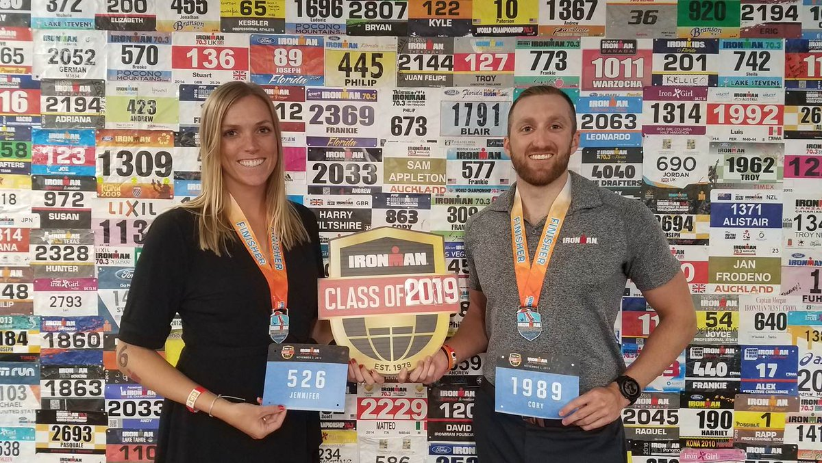 Congratulations to team members Jennifer and Cory, who work at our global headquarters in Tampa. They joined the Class of 2019 at this past weekends IRONMAN Florida. Who else joined this years class? #BecomeOne