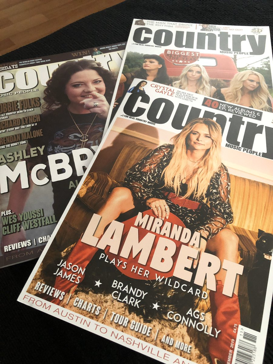 Yesterday I was wondering when they would be sending this out to me. Then to my surprise 😁😍 this was in my mailbox when I came home from work 👏🏻 #ashleymcbryde #mirandalambert #ashleymonroe about > #pistolannies #countrymusicpeople #countrymusic #ukmagazine