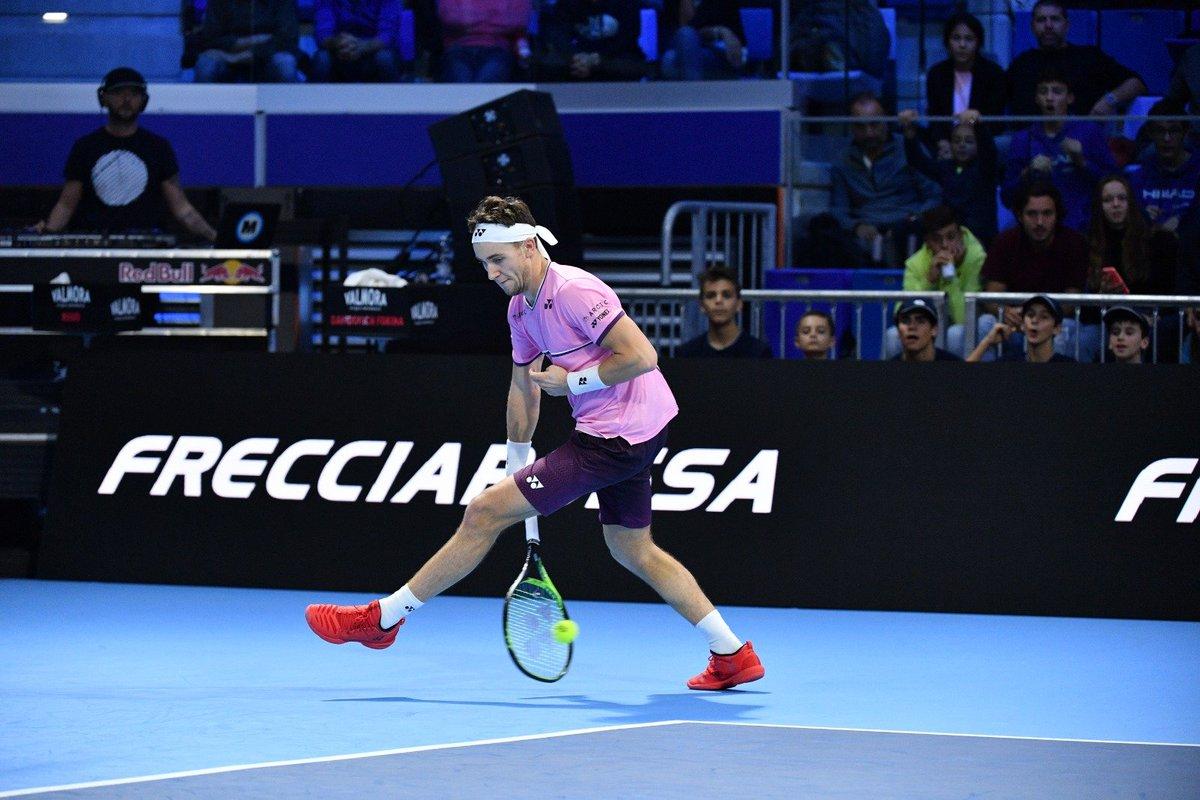 Next Gen ATP Finals. Рууд с боями оформил свою первую победу в группе
