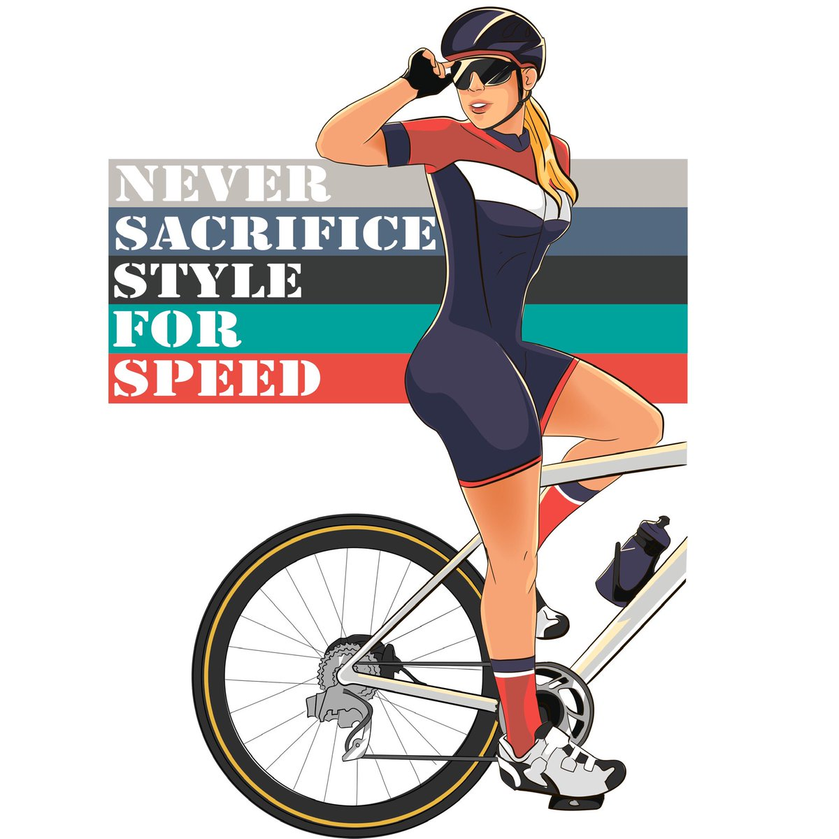 How much is important style in our sport?Well... You know that you will never sacrifice style for speed, yeah? 😎#CyclingWomen #cyclingstyle #cyclingisnormal #velostyle