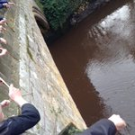 Image for the Tweet beginning: Pooh sticks at Warkworth with