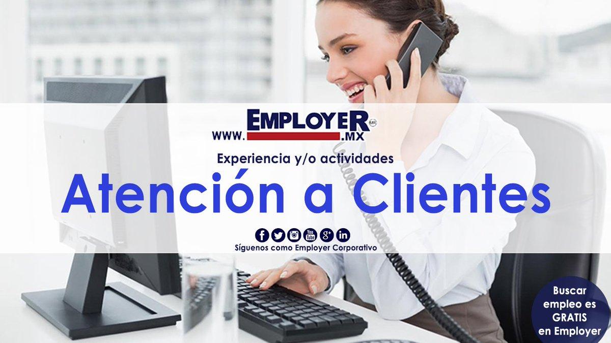 #EmployerMX tiene #Vacantes para #ATENCIÓNACLIENTES para construir tu futuro, entra a ➡  captura tu CV, consulta las vacantes, postúlate y ¡listo! Jamás hubo tanta atención al #Éxito.