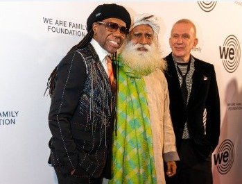 Empowering the #youth of this world is of paramount importance. Thanks to Nile Rogers and the We are Family Foundation. -Sg @nilerodgers @wearefamilyfdtn @nancyhunt @JPGaultier