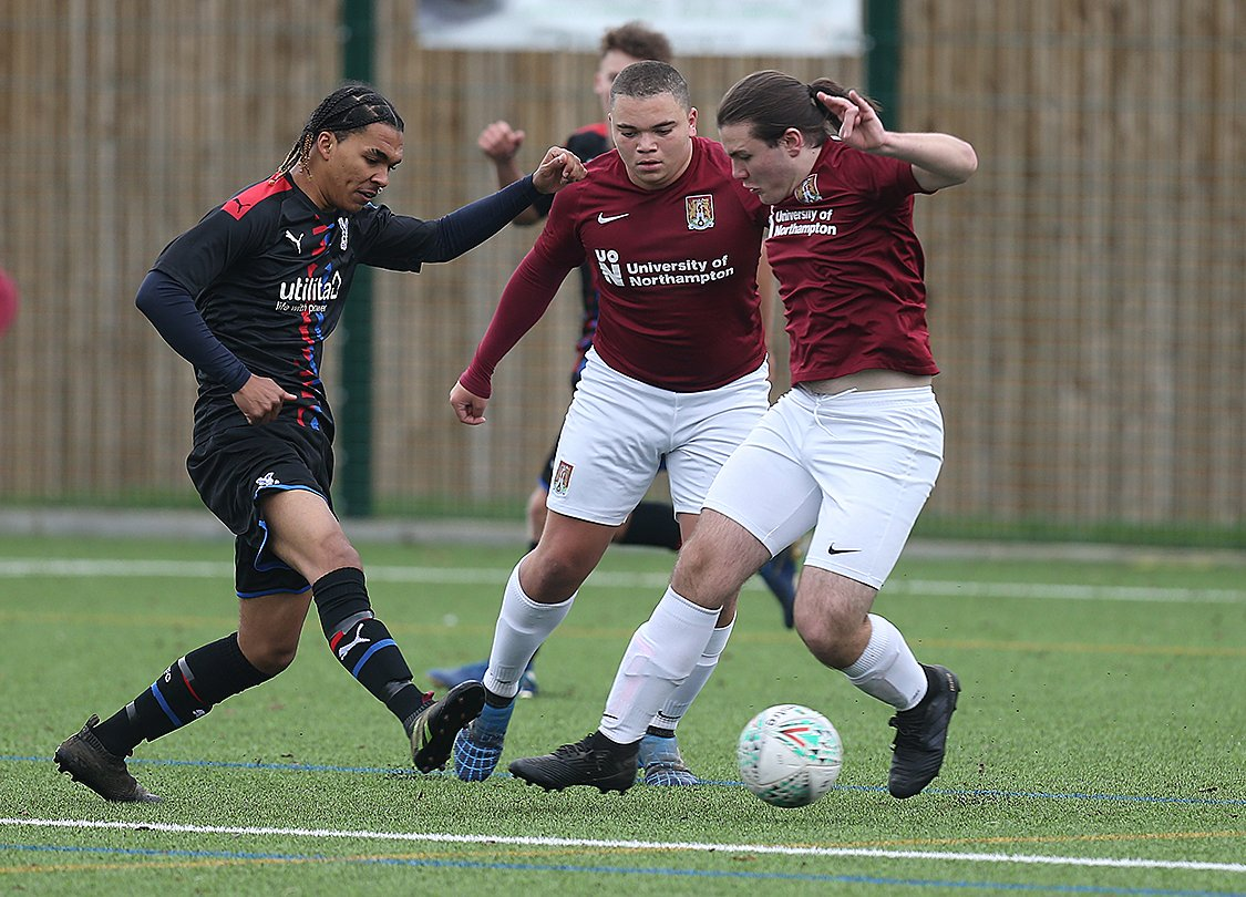 📸 Action from the @NTFC_FEP Southern Championship sides 5-5 draw with Crystal Palace today, including a Dylan Martin hat trick! On a strange afternoon, the game was abandoned early following a gas leak on a nearby building site!