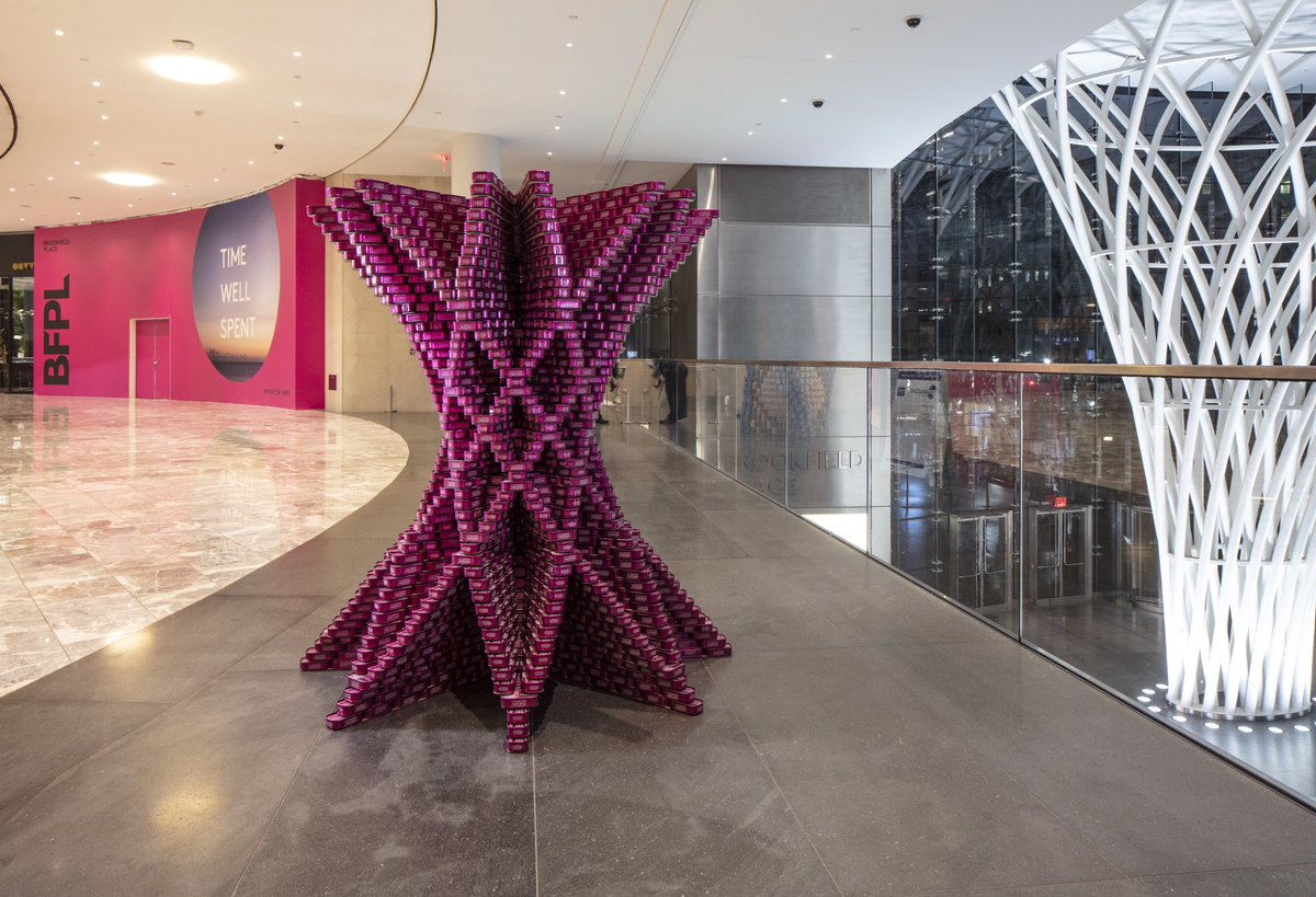 """@HOKNetwork won Structural Ingenuity + People's Choice last year for """"CAN-un-DRUM."""" See what they build at @BFPLny , 230 Vesey St Nov 7-21.  Please #cantribute a  to @CityHarvest when you visit.  #canart #canstruction #onecanmakeadifference Photo: @ashoksinhaphoto<br>http://pic.twitter.com/7aZ6iviOLd"""