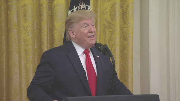 At East Room event, Pres marks profoundly historic milestone and momentous achievement of nominating and confirming over 150 federal judges since he took office. Says it could hit 182 within 2 months. And they will uphold our Constitution as written, he says.