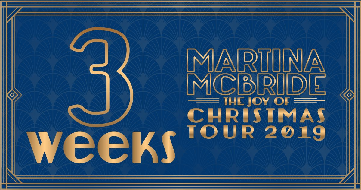 My #JoyofChristmasTour begins in 3 weeks! Do you have your tickets and VIP passes yet?! martinamcbride.com/tour