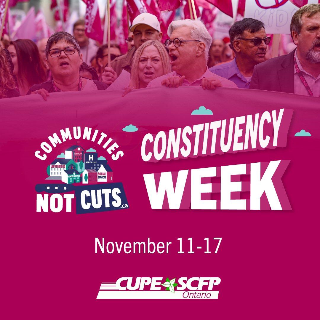 Join us next week in #Pickering! #CommunitiesNotCuts