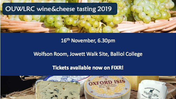 test Twitter Media - Tickets available now for this year's OUWLRC Wine & Cheese event led by cellar master Paul Watson of the Oxford Cheese Company!  https://t.co/G1b5BsrluM https://t.co/T4BK6lEHI7