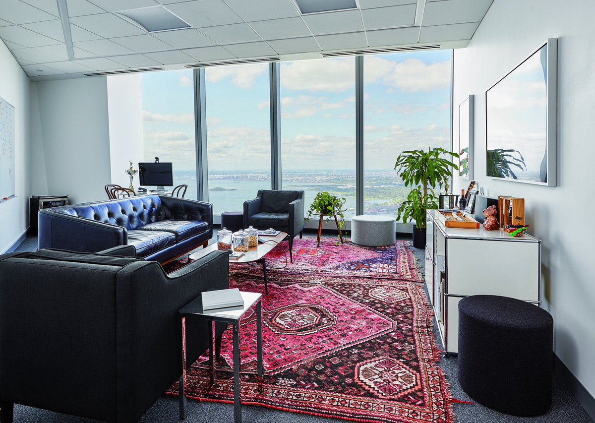 Check out the unique office space of our tenant #thestagwellgroup. We love the cozy office vibes. Want to customize your own office space? Prebuilts and full floor opportunities are available now. Check it out here: onewtc.com/leasing