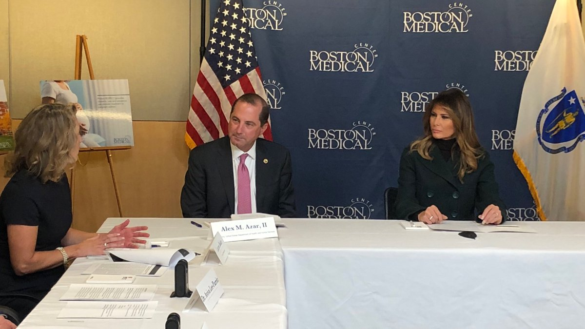 Grateful for the personal leadership of @FLOTUS in drawing attention to neonatal abstinence syndrome and the needs of families and infants impacted by it. NAS is one of the most heartbreaking aspects of the #opioidcrisis and is a focus of our work at @HHSGov.