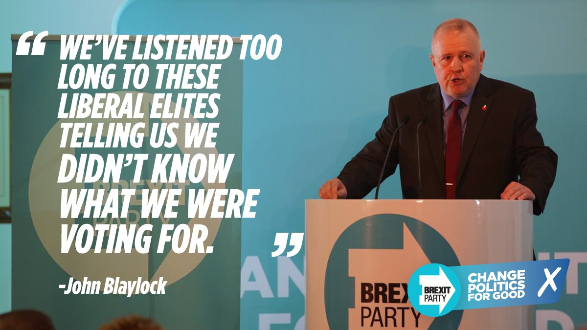 """""""Be just, fear not. Vote for the Brexit party to change politics for good."""""""