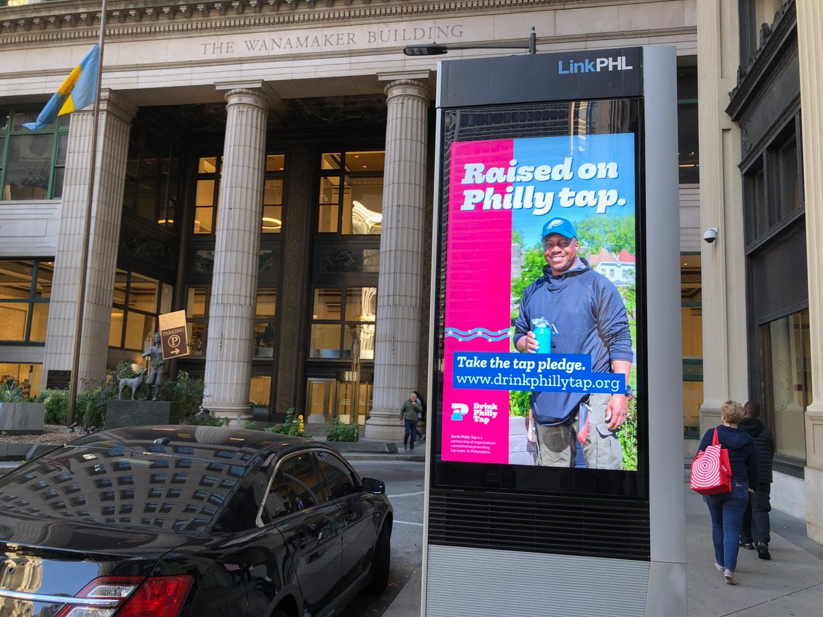 Glad to see #DrinkPhillyTap reaching more people in #Philadelphia at this #LinkPHL kiosk!
