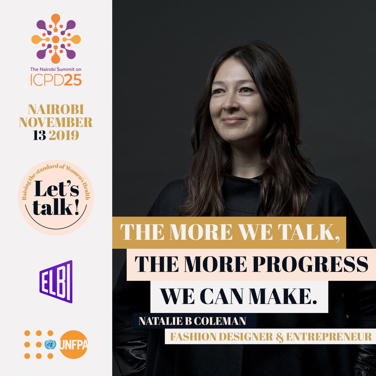 @follybah @AJEnglish Our first panellist is @nataliebcoleman, the Irish fashion designer that partnered with the @UNFPA on a collaborative collection, SISTERS, to celebrate the coming together of women to mobilise and build support systems that help fulfil the promise of rights and choices for all. https://t.co/ovNtTzgmwH