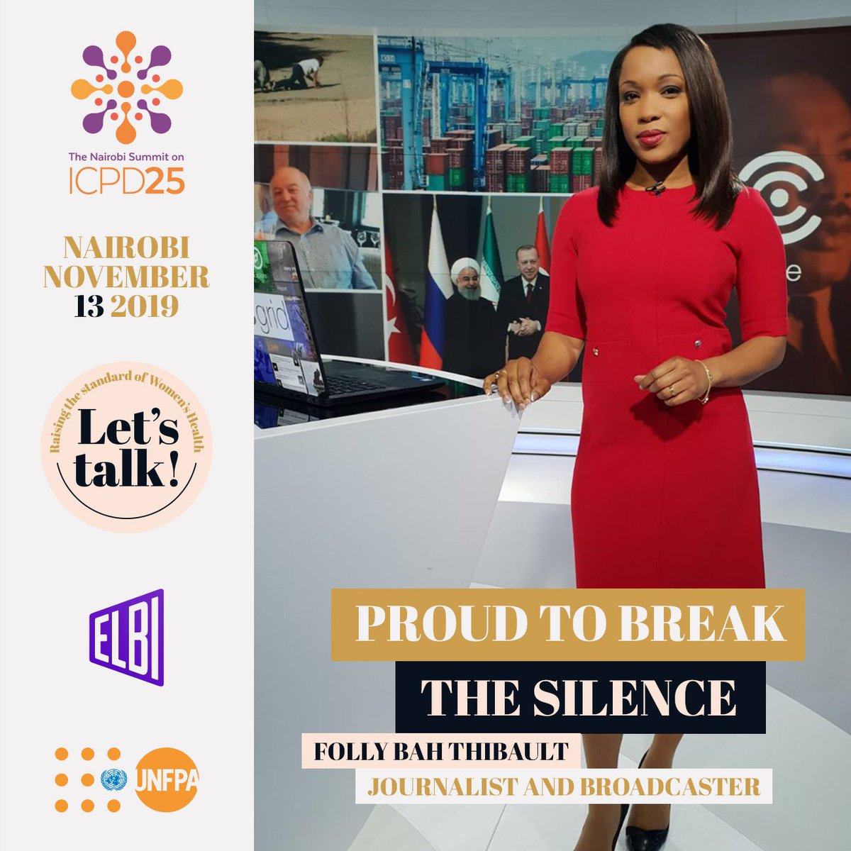 Let's kick things off with our #LetsTalk moderator, the journalist and presenter @follybah. Folly is Principal Presenter for @AJEnglish and will be chairing our session at the #NairobiSummit, bringing the best out of the fantastic panellists you're about to meet... We can't wait! https://t.co/hlkBIw5Dy1