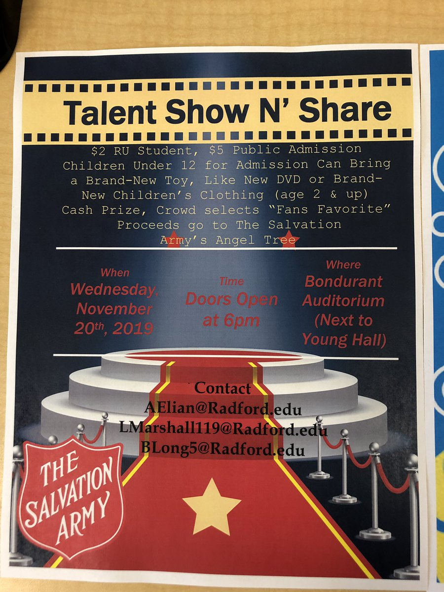 for my radford people (like 2 of you) come support me and my group at this talent show we're hosting, we need some more performers so retweet, im performing you don't wanna miss it #ru #nrv #comethru @radfordu @RadSPaCE @radfordumusic @RUChoirs @RUCVPA @BrianOHemphill