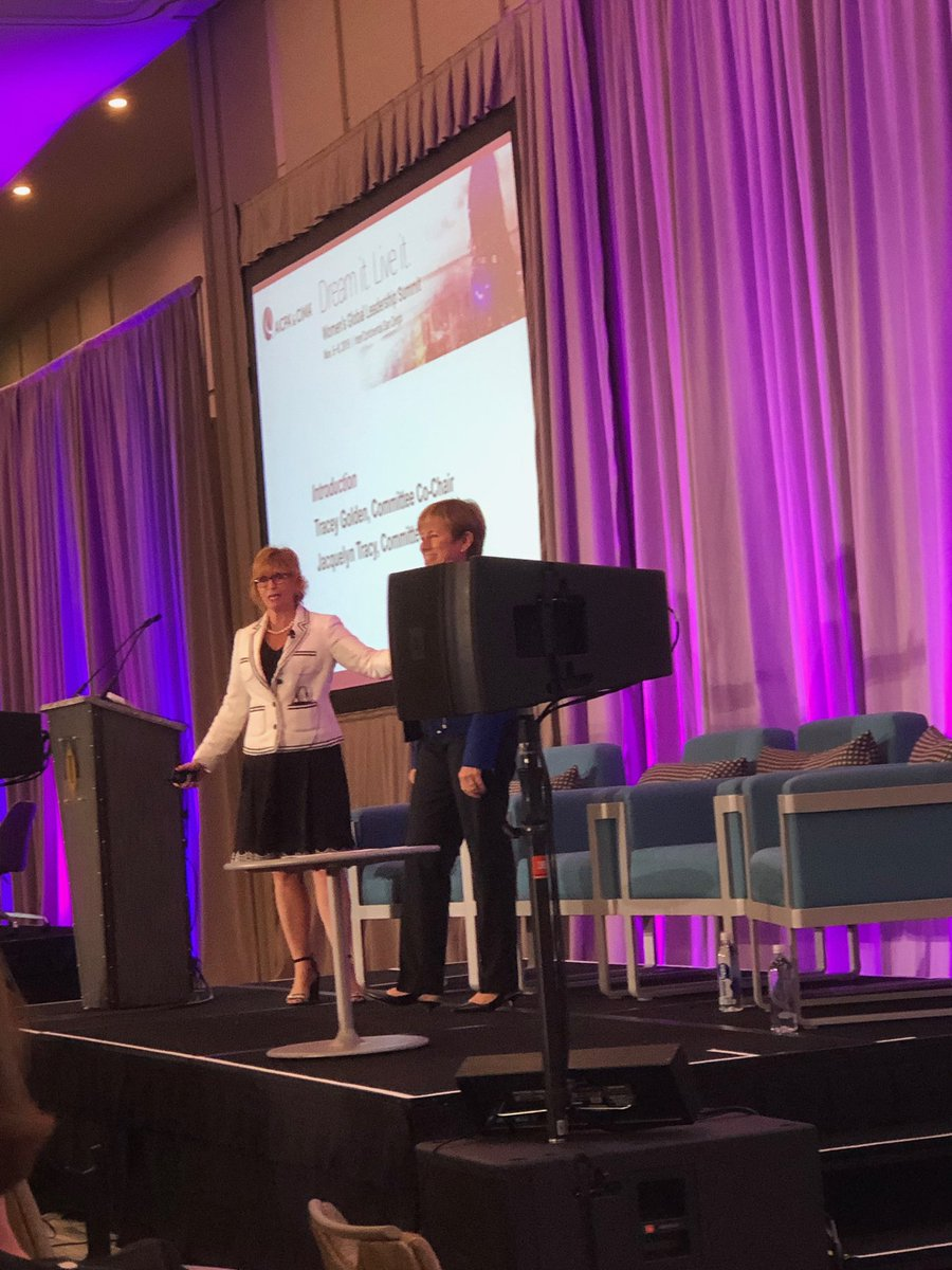 So fun to help kick off the conference with @TraceyGoldenCPA. Now we get to learn from some amazing speakers. #AICPAWomenLead
