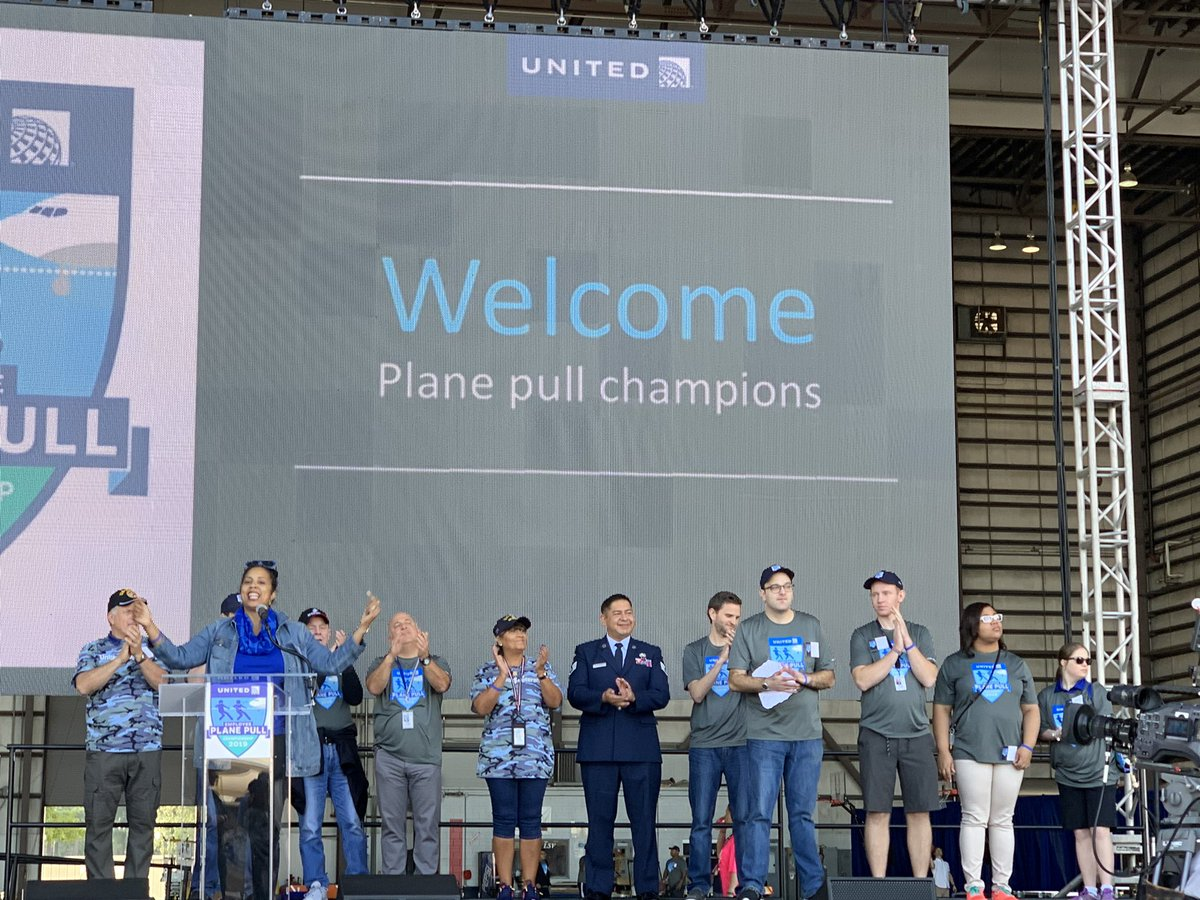 """The Special Olympics ambassador succinctly called today's plane pull event an """"Inclusion Revolution""""! 🎉Super fun to see so many new faces from around the world. 🙏 to IAH for hosting and Congrats to Team SFO - again!! 👏👏👏 @weareunited @rodney20148"""