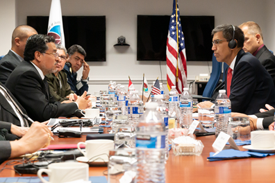 .@DEAHQ Acting Administrator Dhillon meets with Ismael Rubén Vargas Céspedes, @DEVIDAPERU Executive President, to discuss their common battle against drug trafficking.