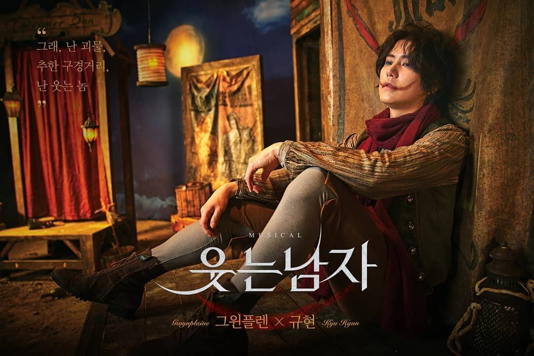 The character posters of #KYUHYUN and #SUHO for the musical 'The Man Who Laughs' have been unveiled! Stay tuned for their portrayals of the charcater #Gwynplaine! 📅 1st Ticket Open : 2019.11.12 📍 Seoul Arts Center Opera House #규현 #SUPERJUNIOR #슈퍼주니어 #수호 #EXO #엑소